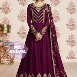 Baju Gamis India Maxy Bordir Long Dress Cantik