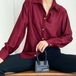Baju Kemeja Wanita Hem Cewek Polos Lengan Panjang