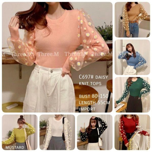 Blouse Cewek Daisy Knit Top Cantik Model TerbaruBlouse Cewek Daisy Knit Top Cantik Model Terbaru