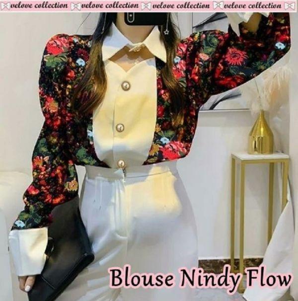 Baju Atasan Wanita Terbaru Motif Bunga Modern