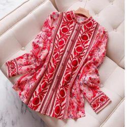 Baju Atasan Wanita Warna Merah Red Plum Modis