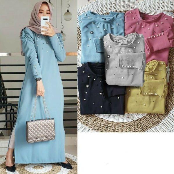 Baju Gamis Maxy Mutiara Cantik Model Terbaru