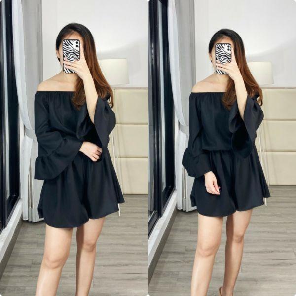 Baju Jumpsuit Cantik Model Sabrina Masa Kini