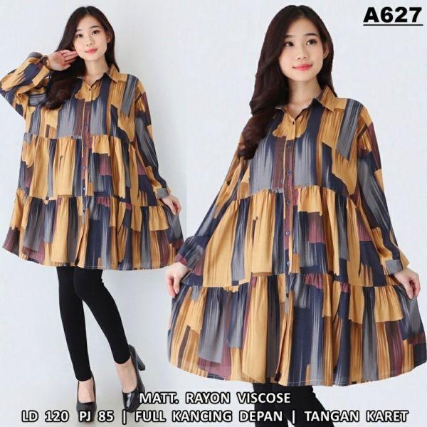 Baju Model Tunik Motif Ukuran Jumbo XXL Terbaru