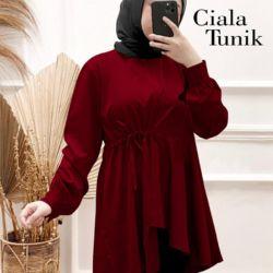 Baju Tunik Pakaian Muslim Wanita Lengan Panjang