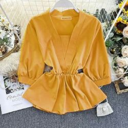 Baju atasan Wanita Blouse Polos Model Terbaru