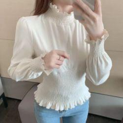 Model Baju Atasan Lengan Panjang Karet Wanita