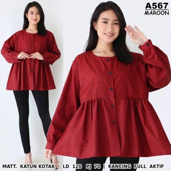 Model Baju Atasan Wanita Peplum Ukuran Jumbo