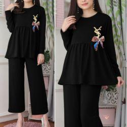 Setelan Baju dan Celana Panjang Homewear Modis
