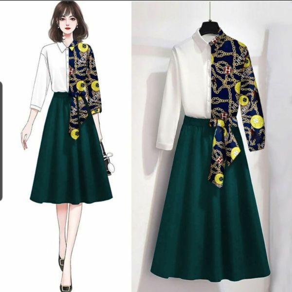 Setelan Baju dan Rok Casual Model Terbaru Gaya Korea