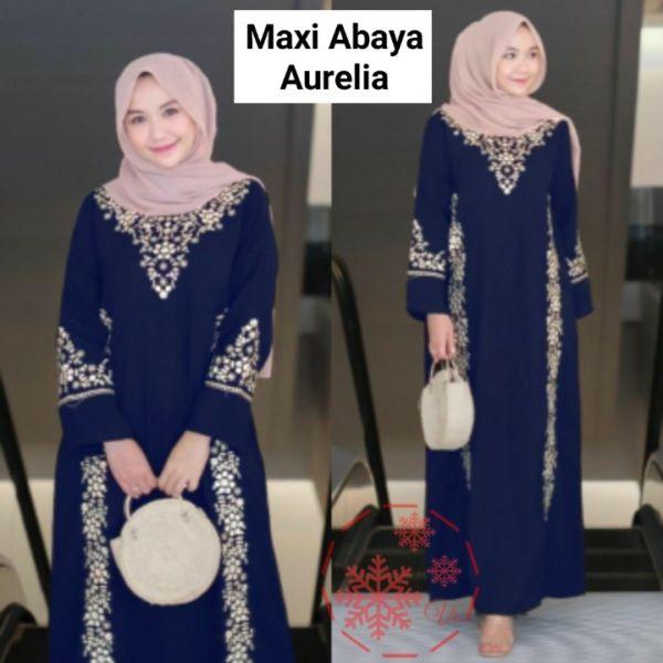 Baju Abaya Bordir Gamis Lebaran Modern Cantik