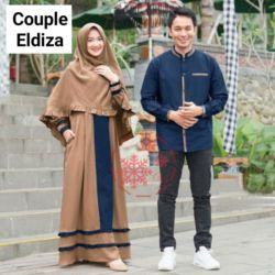 Baju Couple Gamis Syari dan Koko Panjang Lebaran