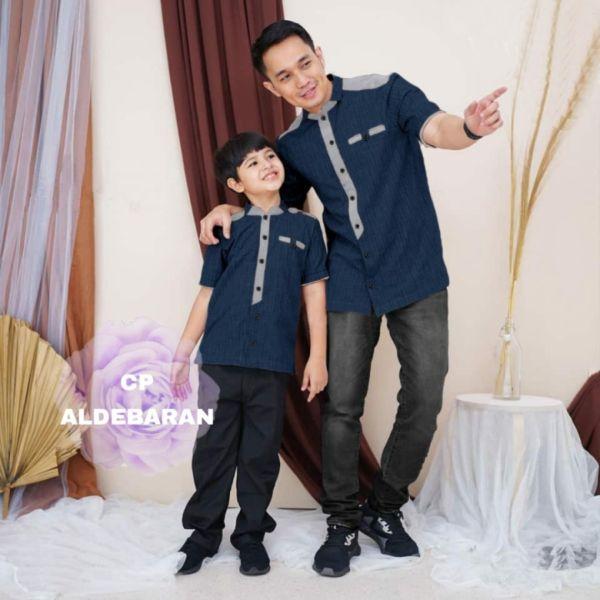 Baju Couple Koko Ayah dan Anak Lengan Pendek