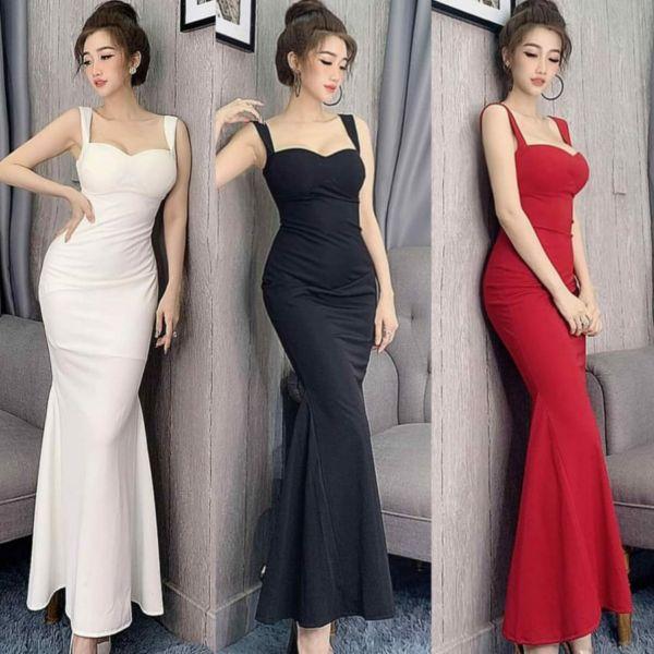 Baju Gaun Pesta Long Dress Bridesmaid Seksi Cantik