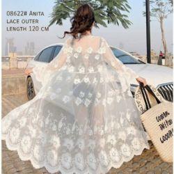Baju Lace Outer Cardigan Panjang Cantik Modern