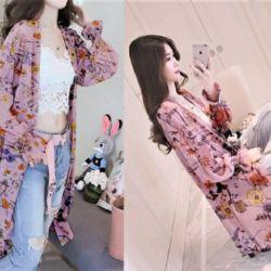 Baju Long Cardigan Motif Cantik Modern