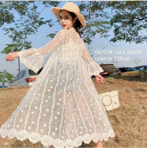 Long Cardigan Lace Cantik Model Terbaru