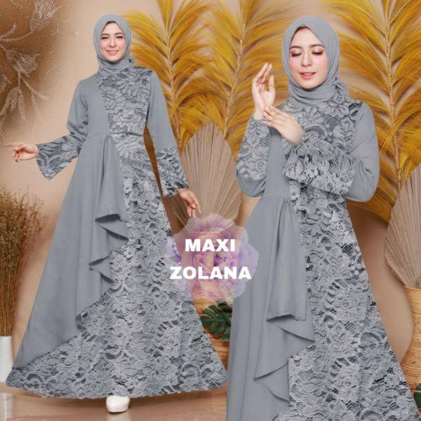 Model Baju Gamis Brukat Pesta Murah Terbaru