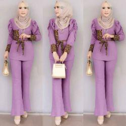 Setelan Baju Muslim Wanita Dan Celana Panjang