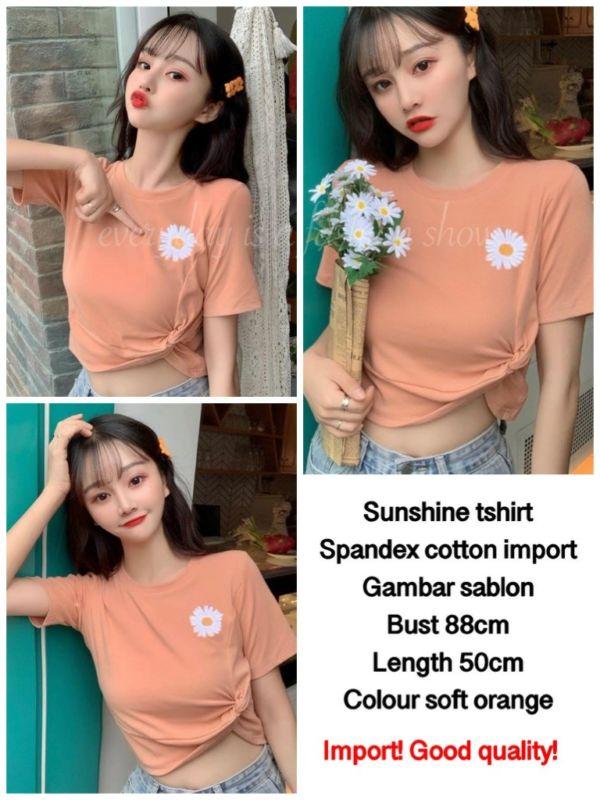 Baju Kaos Oblong Lengan Pendek Shunsine Modern