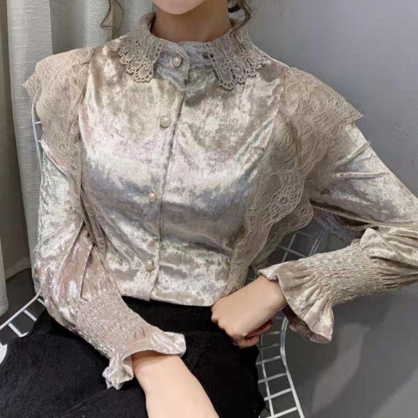 Model Baju Atasan Wanita Velvet Blouse Terbaru