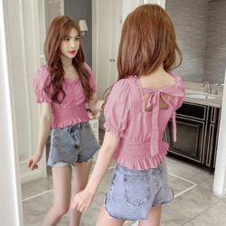 Model Baju Crop Top Lengan Pendek Modis Terbaru