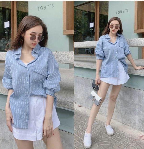Baju Kemeja Wanita Korea Trend Masa Kini