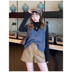 Baju Rompi Vest Knit Rajut Gaya Korea Modern