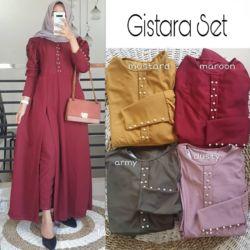 Baju Setelan Tunik Belah Samping & Celana Panjang