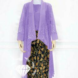 Setelan Baju Kebaya Brokat Modern & Rok Batik