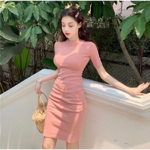 Baju Bodycon Dress Span Rajut Model Terbaru