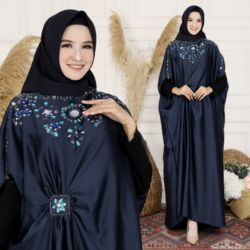 Baju Kaftan Long Dress Manik-manik Modern