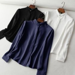 Baju Kemeja Kerja Polos Wanita Trend Masa Kini