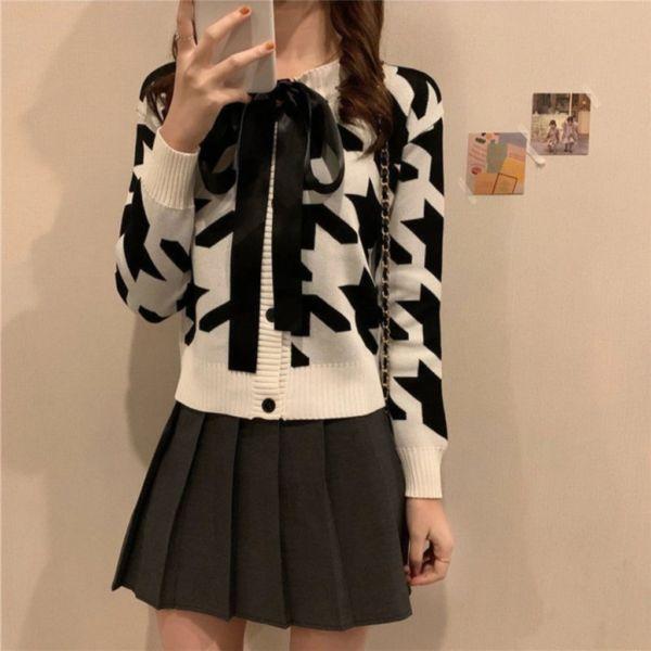 Baju Outer Suzy Knit Cardigan Jaman Sekarang