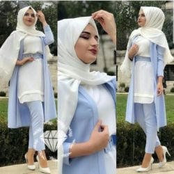 Baju Setelan Hijab Celana Cardigan Model Terbaru