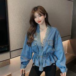 Jaket Jeans Crop Wanita Model Terbaru Kekinian
