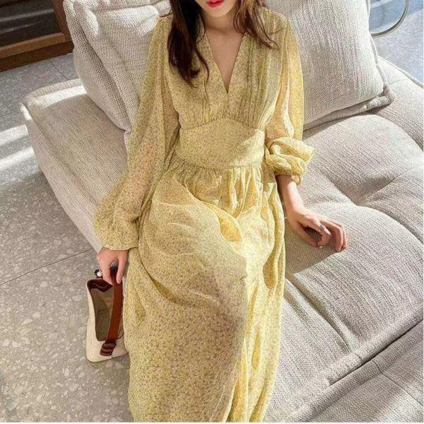 Model Baju Long Dress Kuning Import Kekinian