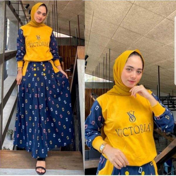 Model Baju Setelan Celana Kulot Paling Terbaru
