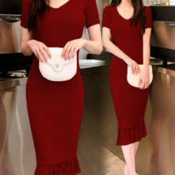 Model Dress Duyung Pendek Bahan Rajut Terbaru