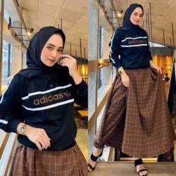 Setelan Baju dan Celana Wanita Berhijab Modern