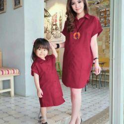 Baju Couple Longkem Ibu dan Anak Perempuan