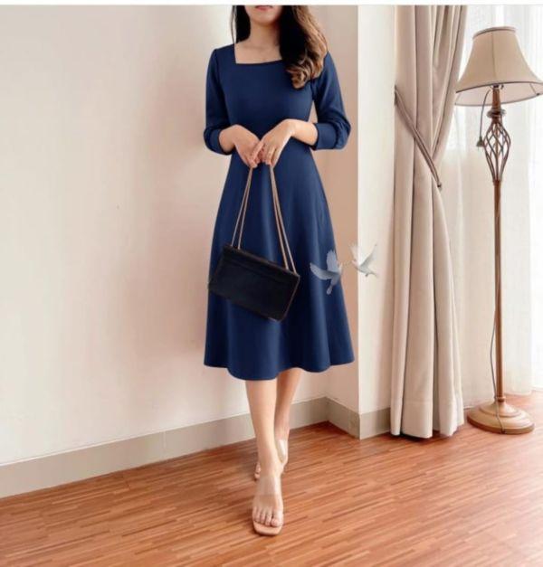 Baju Dress Pendek Scuba Cantik Model Terbaru