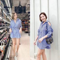 Baju Kemeja Wanita Bahu Bolong Trend Masa Kini