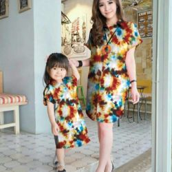 Baju Longhem Couple Kembaran Ibu dan Anak