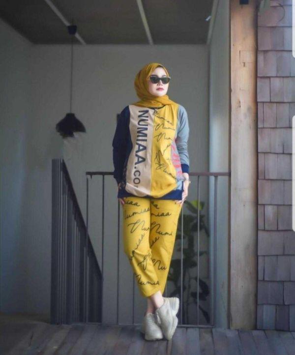 Baju Setelan Wanita Hijab Celana Model Terbaru