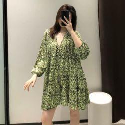 Loose Mini Dress Motif Cantik Model Terbaru