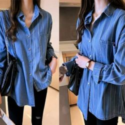 Model Baju Atasan Katun Denim Jaman Sekarang
