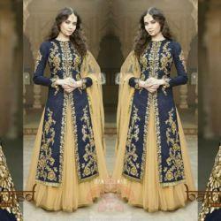 Model Baju Gamis India Bordir Kombinasi Tile