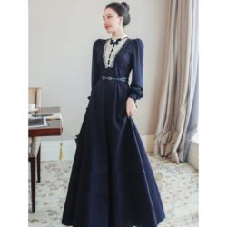 Model Baju Gamis Long Dress Kekinian Free Belt