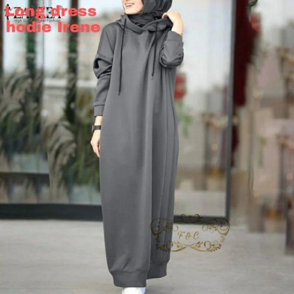 Model Baju Long Dress Hoodie Kekinian